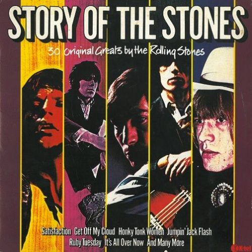 THE ROLLING STONES Story Of The Stones Vinyl Record LP K-Tel 1982